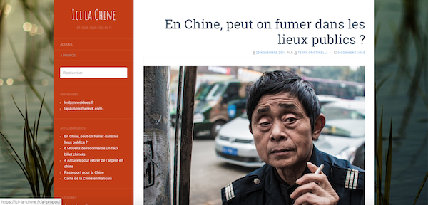 Screenshot du site ici-la-chine.fr