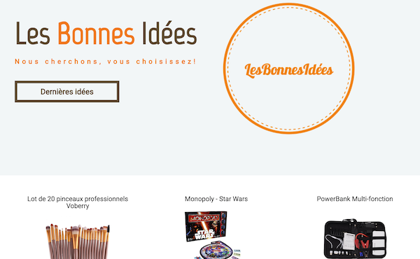 Screenshot du site lesbonnesidees.fr